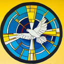 Volunteers from Florida painted this dove mural, which is a symbol of the Holy Spirit, on the outside wall of the St. Joseph High School Chapel on St. Croix on February 23, 2017. The volunteer group consisted of Tim and Eileen Kozyra from the Catholic Heart Workcamp of Orlando, Florida with a group of students from Melbourne Central Catholic High School together with other chaperones. They spent the school day with some students from St. Joseph High School completing this inspirational mural.